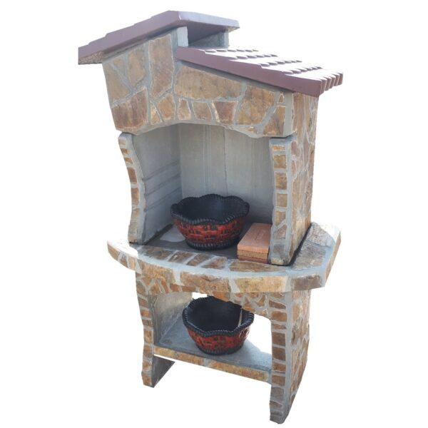 Betonski roštilj prirodni kamen